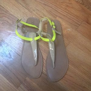 Forever 21 sandals with neon